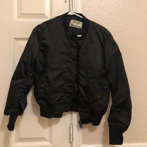 Acne studios black bomber jacket